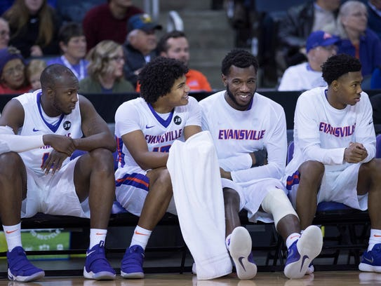 The Evansville Aces enjoy their first game of the season