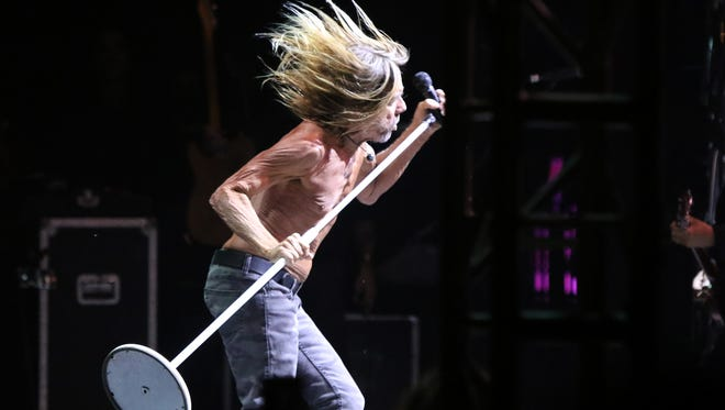 Iggy Pop performs during the sixth annual Desert Daze at the Institute of Mentalphysics in Joshua Tree on Saturday, October 14, 2017.