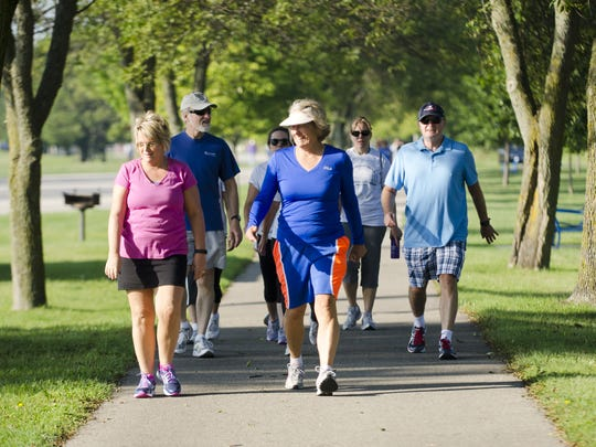 Over 70 people registered to participate the 2015 Library to Library Fun Walk from the Manitowoc Public Library to the Lester Public Library in Two Rivers on Mariner's Trail. All funds raised from the walk would support library collections and programs at both libraries.
