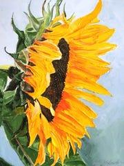 A sunflower, by Jim Kozlowski.