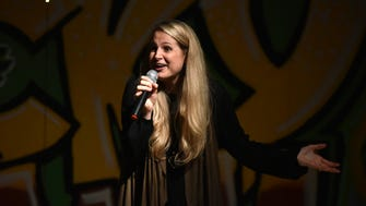 "Mississippi Storytellers speaker Lacy Deese talks about saying ""I do"" in the middle of a hurricane. Mississippi Storytellers: Romance - Or Not was held Feb. 13, 2018, at Lucky Town Brewing in Jackson's Midtown neighborhood."