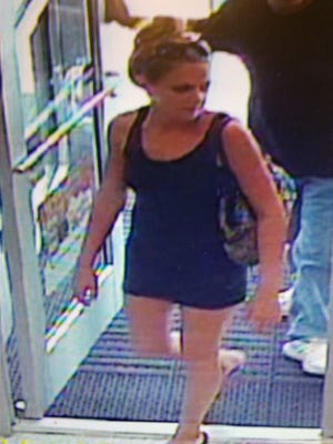 Pictured is a female suspect in a Rehoboth Beach car theft.