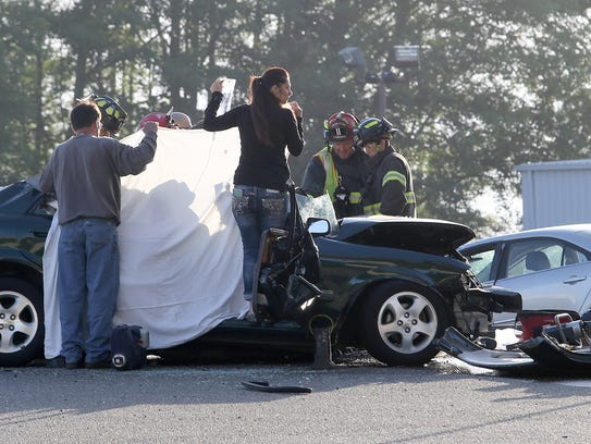 A multi-vehicle accident in Gorst early on Wednesday