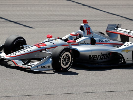 Will Power (12) competes during an IndyCar Series auto