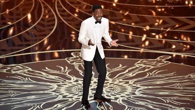 Host Chris Rock speaks onstage during the 88th Annual Academy Awards at the Dolby Theatre on Feb. 28, 2016 in Hollywood.