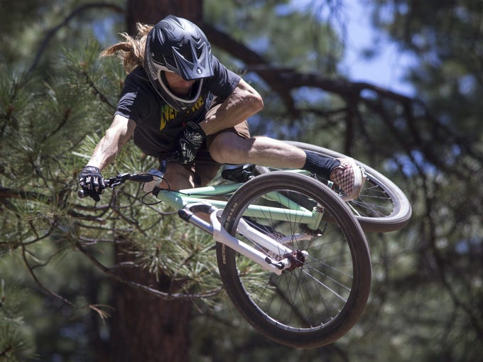 Jeff Seliga (Tempe) jumps his bike, July 25, 2015,
