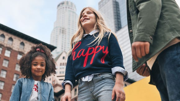 "Gymboree has unveiled a ""brand refresh,"" and says its"