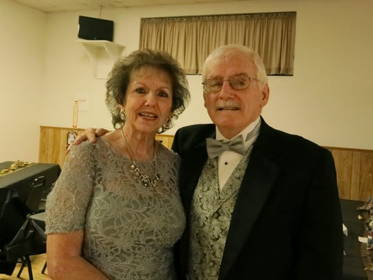 Marie and Roy Norris of Redding attend the New Year's