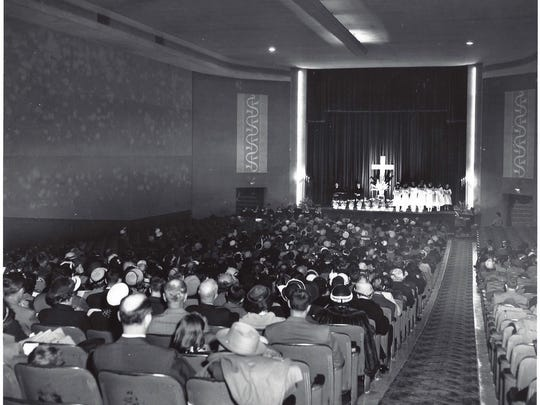 Harvey Browne Memtorial Presbyterian Church met for 18 months from June 1950 to January 1952 at the old Vogue movie theater on Lexington Road in St. Matthews.