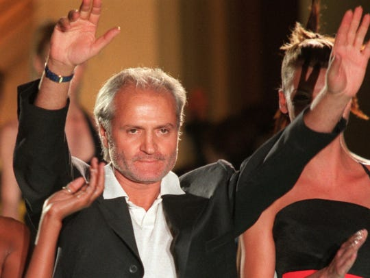 Gianni Versace in July 1996 after a show in Paris.