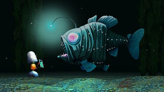 """Beloved children's author David Wiesner releases his first book app offering a unique navigation system of zooming in on a """"Spot"""" to be transported to one of five fantastical worlds, including this one under the sea."""