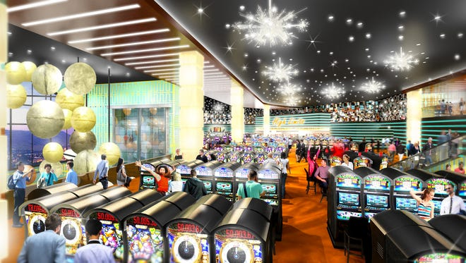 An artist's rendering of the inside of Traditions Resort & Casino.