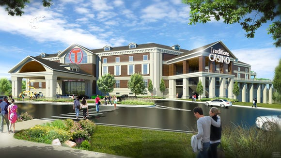 An artist's rendering of the proposed Traditions Resort & Casino, in the Town of Union.