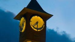 Ontario City Administration clock tower