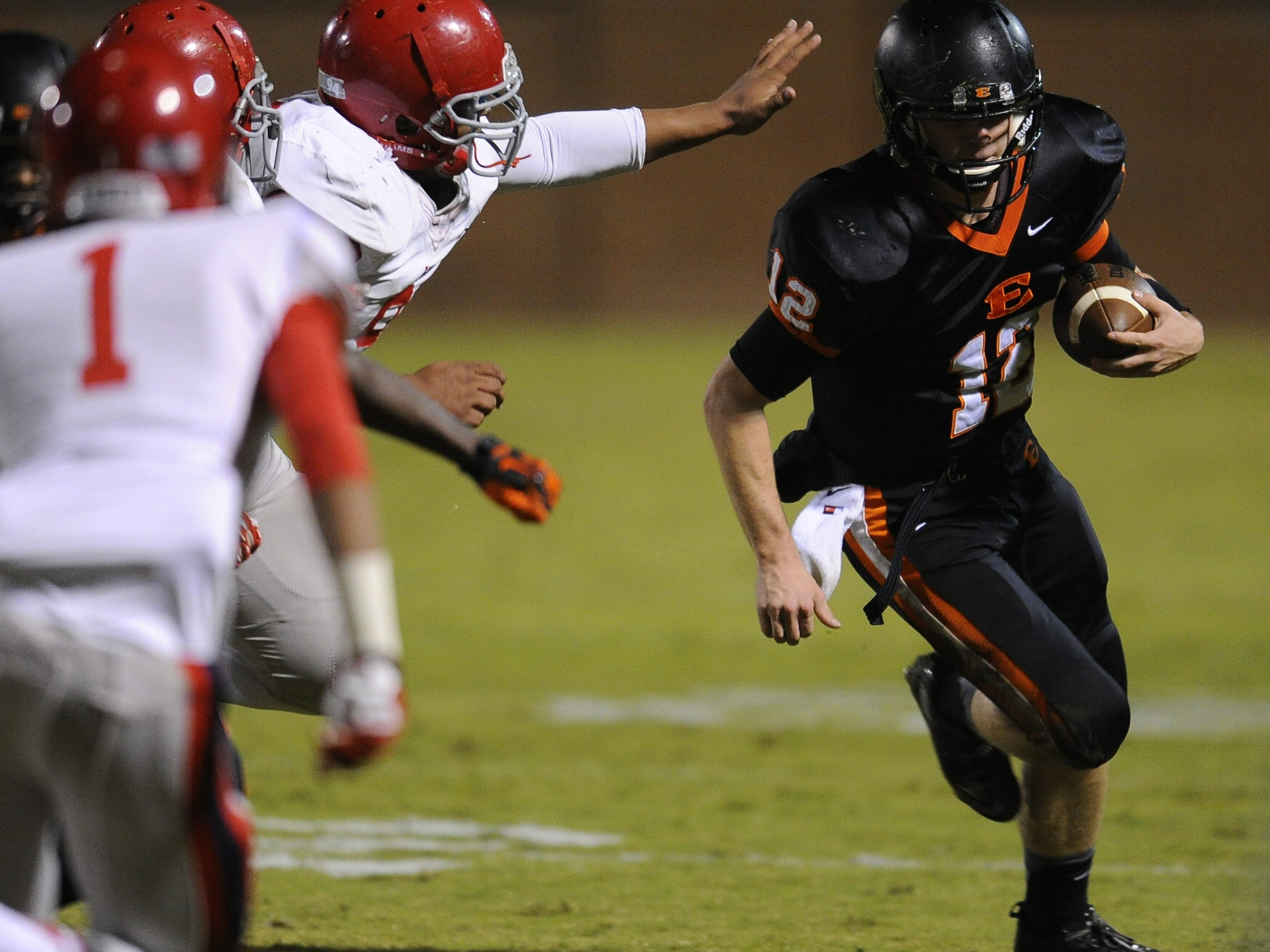 Ensworth quarterback Coleman Goodwin (12).