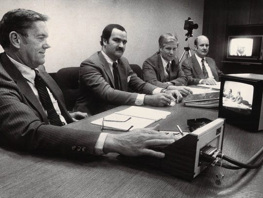 Hercules officials Bruce Edge (from left), Al Hinkle,