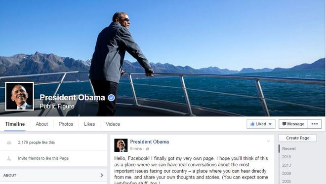 President Obama's Facebook page.