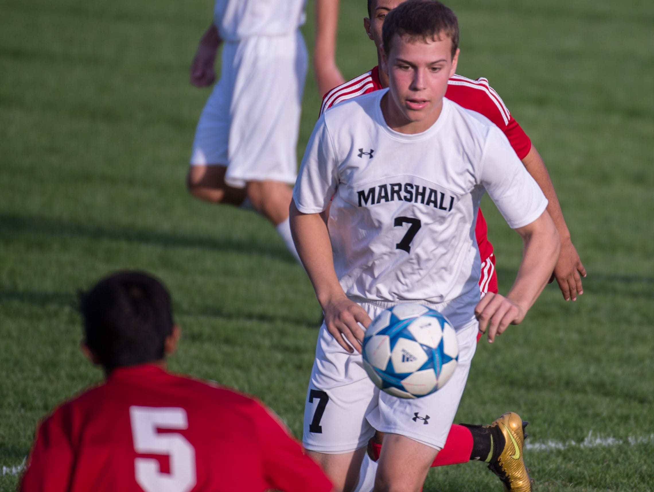 Marshall senior Andrew Shippell currently leads the Redhawks in scoring while in the final stages of his chemotherapy.