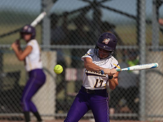 Johnston's Brooke Wilmes at bat during the Class 5A