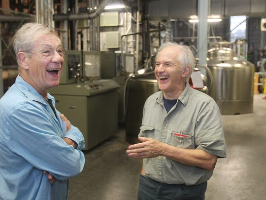 Sir Harry Kroto with his high school friend Sir Ian