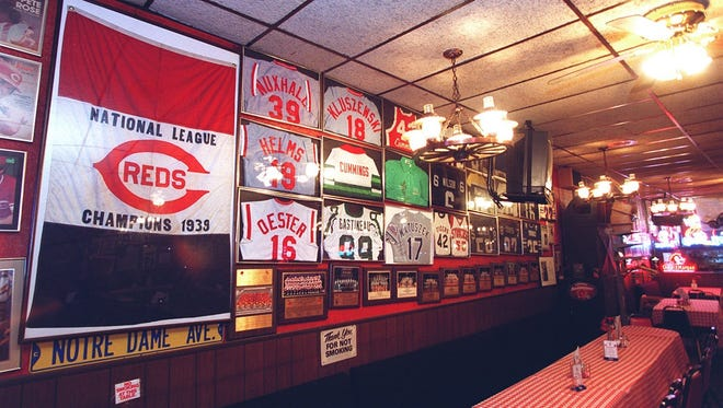 Memorabilia was a large part of the charm of Sorrento's Italian restaurant in Norwood. Celebrities, sports and otherwise, frequented the establishment.