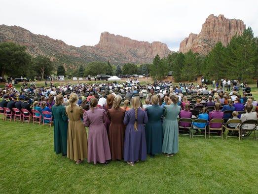 Community members from Hildale, Utah, and Colorado