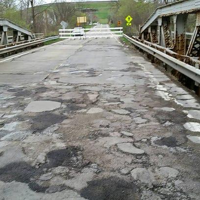 Wayne County has closed this bridge on Lilley, north