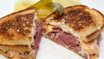 The reuben sandwich with chips and pickles at  Mae Velma's Corned Beef, 4115 N. 76th St.