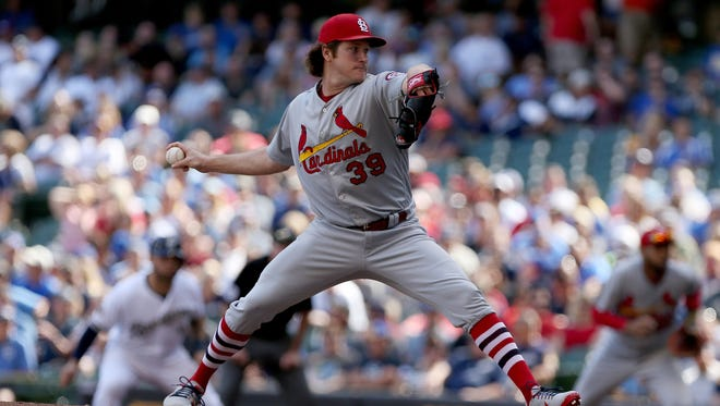 Cardinals pitcher Miles Mikolas went 6 2/3 innings Saturday and held the Brewers to two runs.