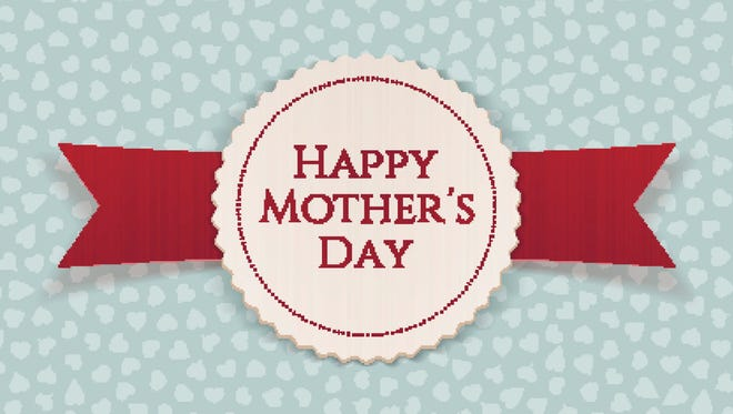 Happy Mothers Day festive Banner with Ribbon