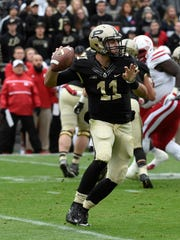 Purdue quarterback David Blough took over as the starter