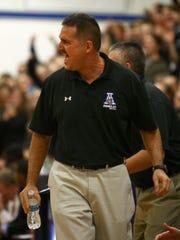 Amelia Head Coach Craig Mazzaro calls out instructions