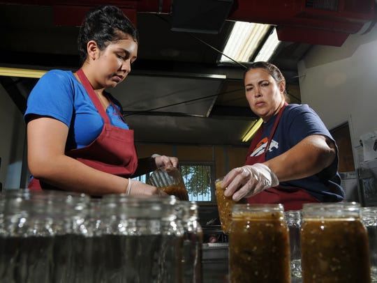 Nohemy Sotelo, left, and Ivonne Sotelo, workers at