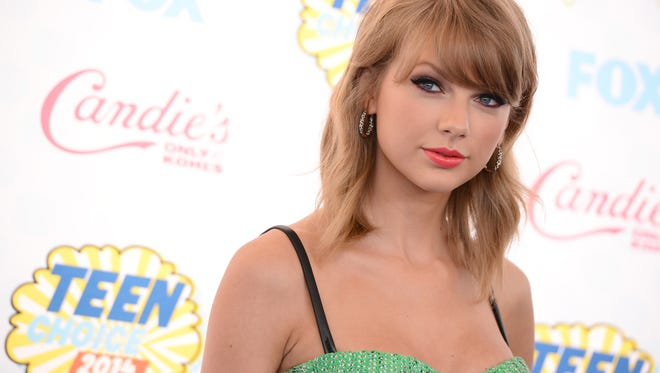 Taylor Swift at the Teen Choice Awards at the Shrine Auditorium in Los Angeles on Aug. 10.