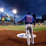 Pace grad Addison Russell became the youngest of the Chicago Cubs youthful starters when making his MLB debut in Pittsburgh at 21-years-old. His first series was in PNC Park against the Pirates. . Apr 21, 2015; Pittsburgh, PA,