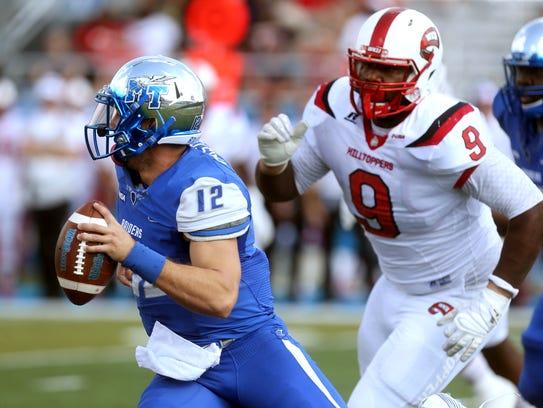 MTSU quarterback Brent Stockstill (12) already has