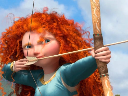 "Disney's ""Brave"" features a princess with wild hair."