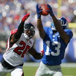 New York Giants receiver Odell Beckham Jr. (13) is off to a record-setting start to his career and will provide a stern test for the Buffalo Bills on Sunday.