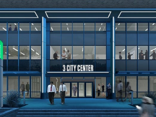 Artist's rendering of the 3 City Center project at