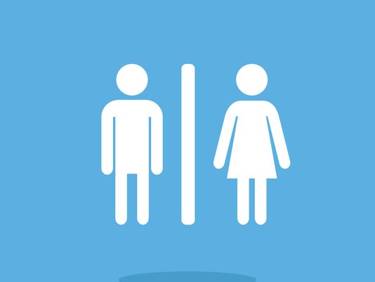 WC icon. Man and woman. Restroom vector icon