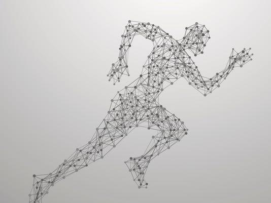 Running man polygonal