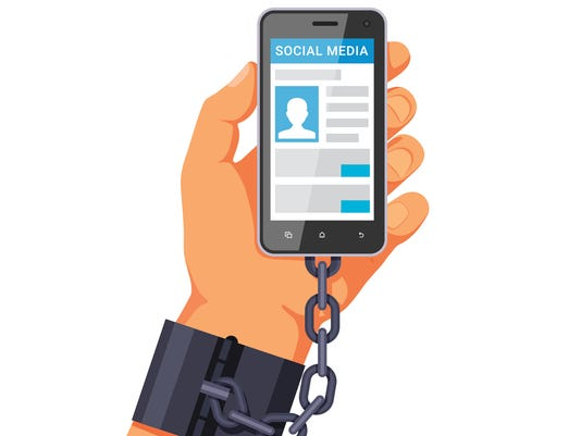 Phone internet and social networks addiction