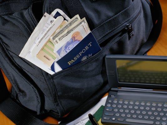 Passport and Laptop
