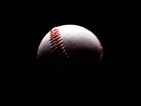Baseball in shadows