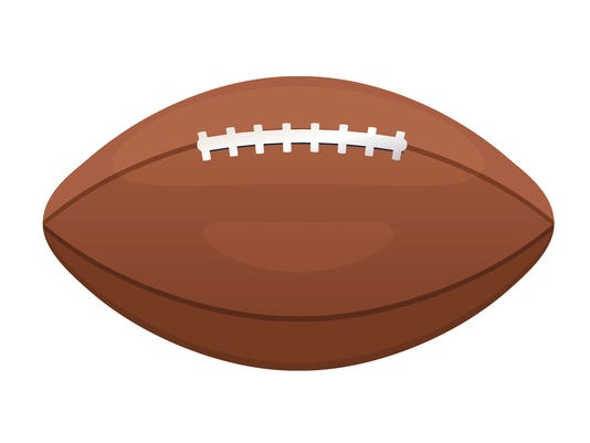 American or Canadian football vector icon. Sport leather ball