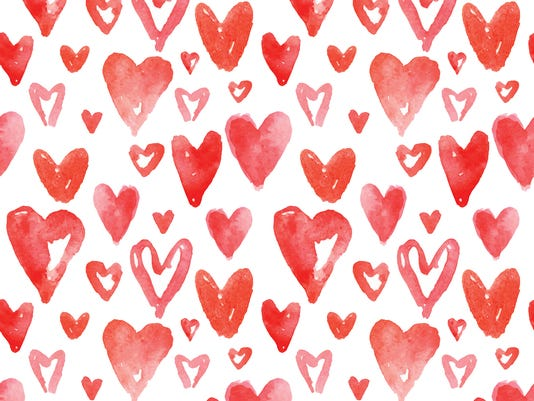 Red hearts pattern. Happy Valentines day background. Seamless pa