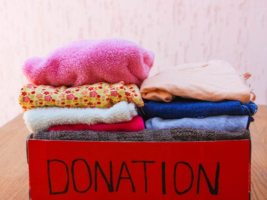 Donation box with clothes