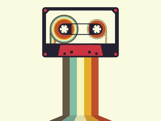 Cassette retro vintage style vector illustration