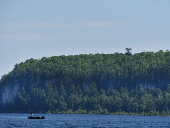 The 75-feet Eagle Tower above the tree line at Peninsula