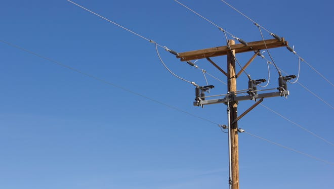 Electrical power poles.
